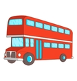 Double decker bus icon cartoon style
