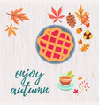 enjoy autumn warm composition vector image vector image