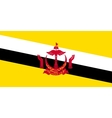 Flag of Brunei in correct size and colors vector image vector image