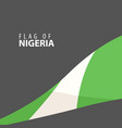 flag of nigeria against dark background vector image vector image