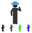 gentleman opinion flat icon vector image vector image