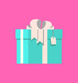 gift with tag vector image vector image