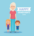 grandparents day card with grandma and vector image