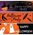 Halloween horizontal banners with holiday vector image vector image