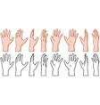 Hand 360 Turn Around Rotation View vector image vector image
