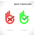 hand and modern check mark icon vector image