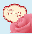 happy mothers day pink flower vector image vector image