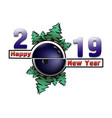 happy new year 2019 and bowling ball vector image