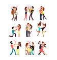 happy young couples in love valentine vector image