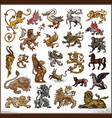 heraldic beast collection vector image vector image