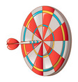 hit darts target icon cartoon style vector image vector image