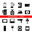 Household Icons and Symbols Isolated Silhouette vector image vector image