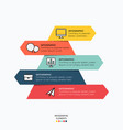 infographic with icons for business design vector image vector image