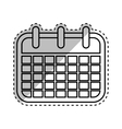 Isolated calendar symbol vector image vector image