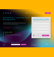 landing page background marketing minimal vector image