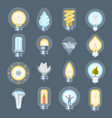 light bulb idea logo energy power concept vector image