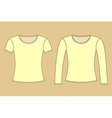 Long And Short Sleeved Shirt vector image vector image