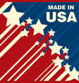 made in usa icon concept badge design vector image