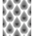 monochrome stripy endless pattern art continuous vector image vector image