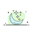 moon night star weather space flat color icon vector image vector image
