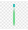 morning toothbrush icon realistic style vector image vector image