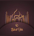 Muslim festival greeting background vector image