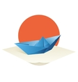 Origami Boat vector image vector image