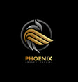 phoenix multicolored concept template vector image vector image