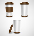 Plastic coffee cup template vector image