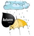 Rainy Season Background vector image vector image
