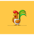 Rooster New Year 2017 Year of the Rooster Contour vector image