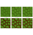 seamless grass pattern drawing step step vector image