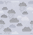 seamless pattern with rainy clouds vector image vector image