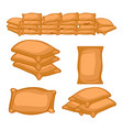 set of full farmers sack cartoon vector image vector image