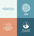 set of hand-lettering designs vector image vector image
