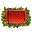 Shopping Basket with Christmas Baubles vector image vector image
