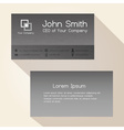 simple brushed metal texture business card design vector image vector image