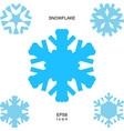 snowflake icon isolated vector image