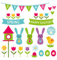 Spring and Easter design elements set vector image vector image