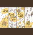 street food banners set hand drawn vector image