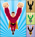 superhero flying vector image vector image