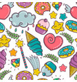 sweet seamless pattern on white background vector image