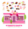 sweets shop collection vector image vector image