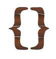 Symbol from wood isolated on the white vector image