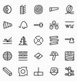 timber and woodworking icons vector image vector image