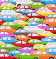 Traffic Jam With Cars Road Background vector image vector image
