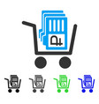 Transfer rouble accounts flat icon vector image