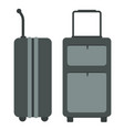 travel bags with side and front view flat color vector image vector image