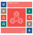 tri spinner icon elements for your design vector image