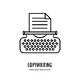 typewriter line logo vector image vector image